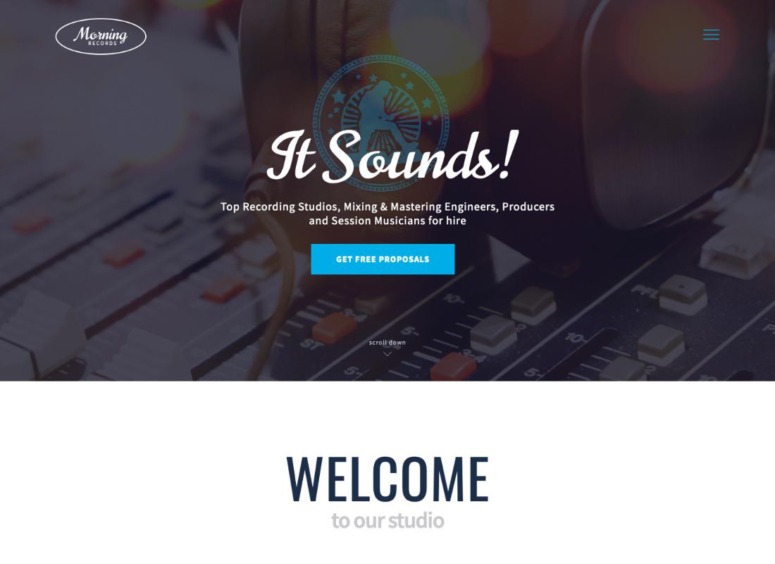 Morning Records | A Stylish Sound Electronic Studio WordPress Theme