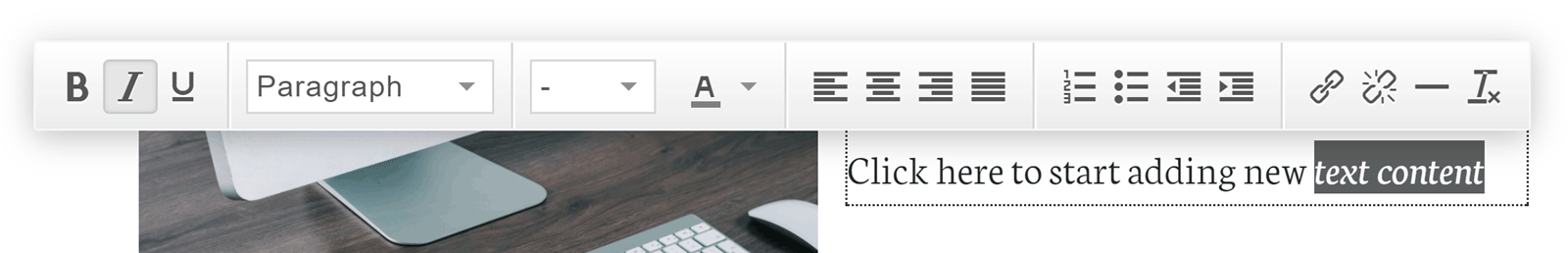 Click to Edit User Interface