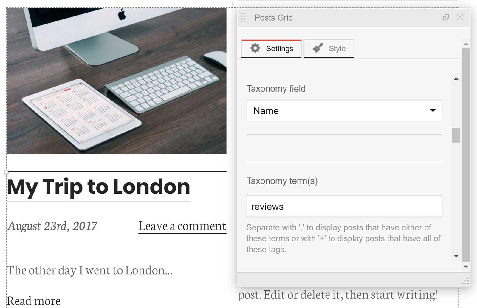 Posts Grid Filter