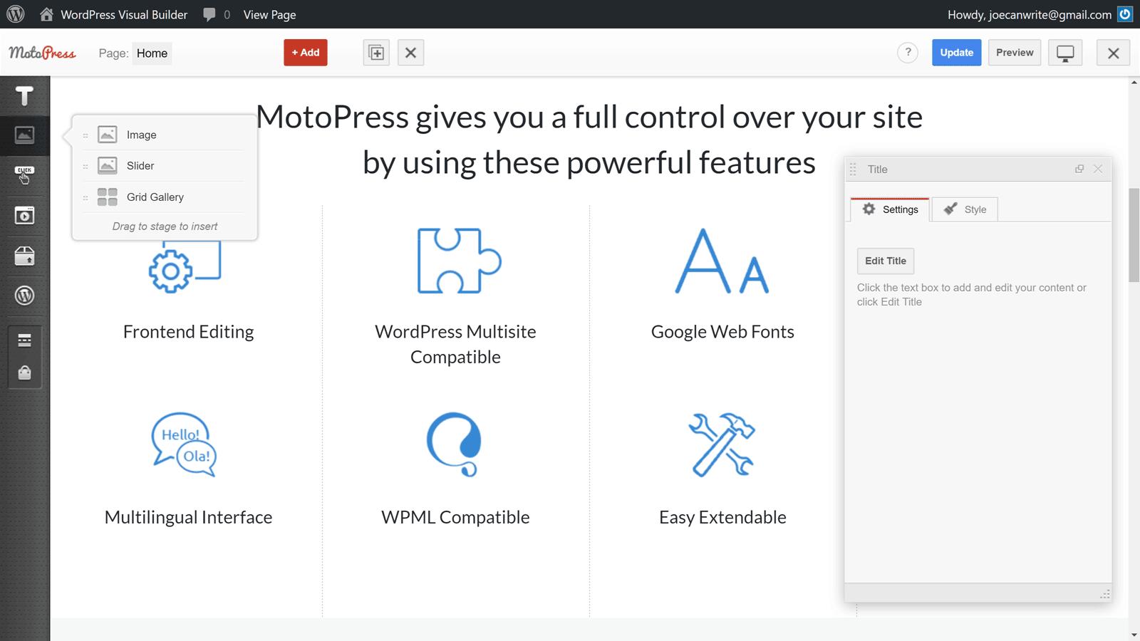 MotoPress Content Editor UI