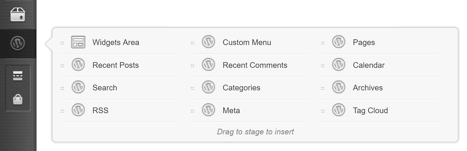 Use WordPress Widgets