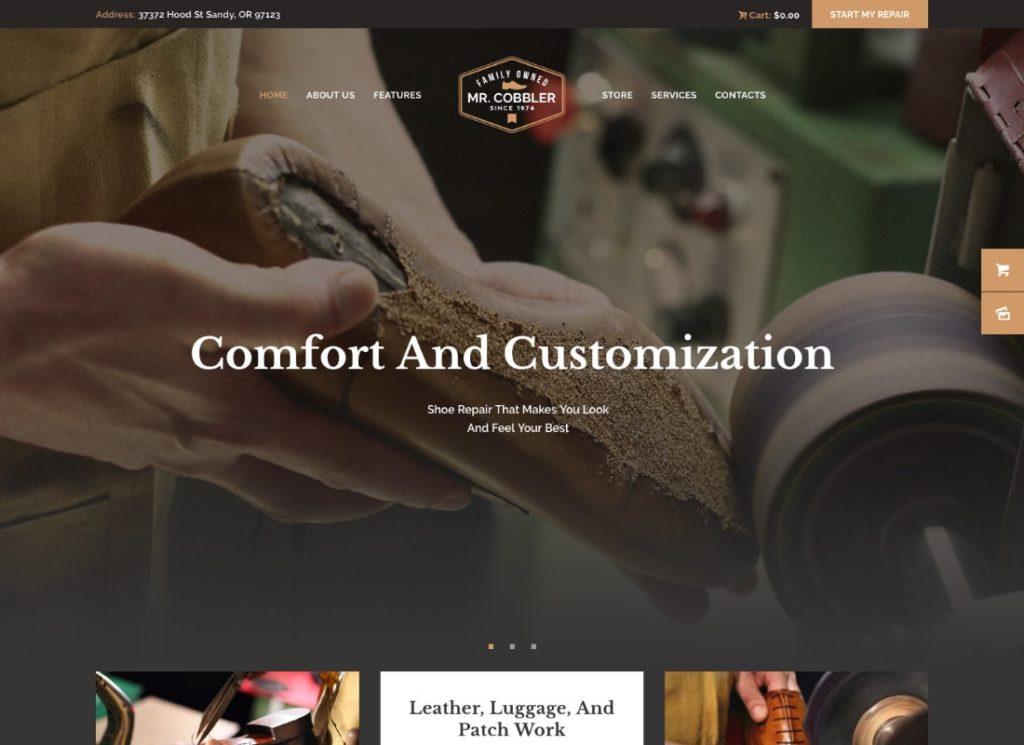 Mr. Cobbler   Custom Shoemaking & Footwear Repairs WordPress Theme