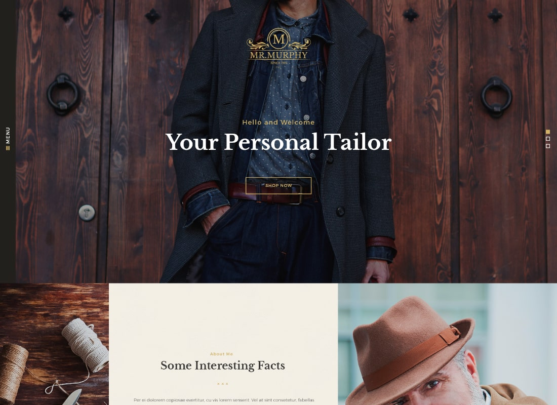 Mr. Murphy | Custom Dress Tailoring Clothing WordPress Theme