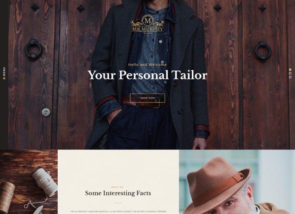 Mr. Murphy   Custom Dress Tailoring Clothing WordPress Theme