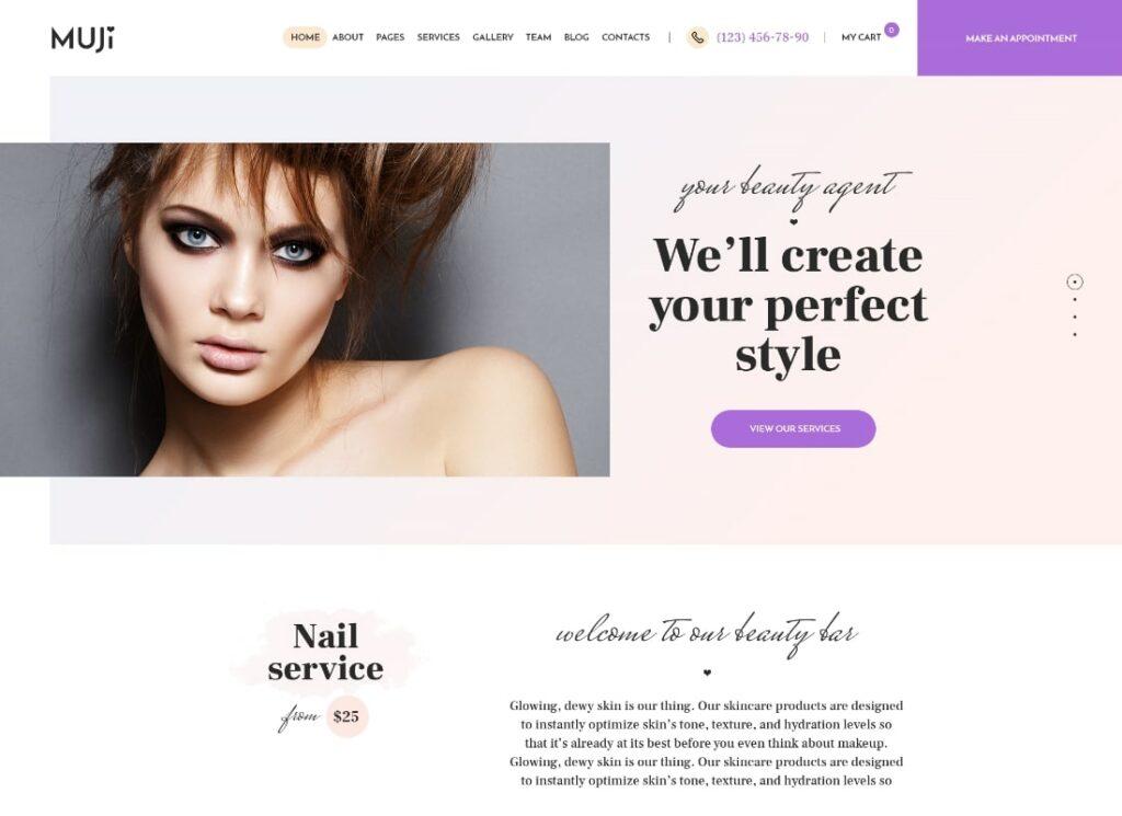 Muji | Beauty Shop & Spa Salon WordPress Theme