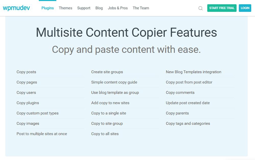 Multisite Content Copier