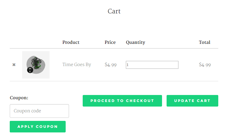 Music Theme Review Shopping Cart