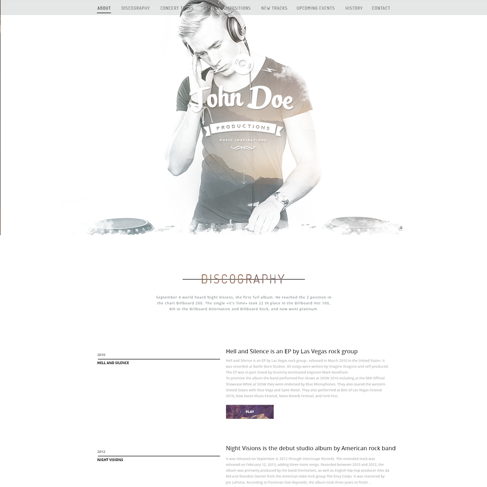 psd portfolio and resume website templates colorlib musicians psd portfolio template