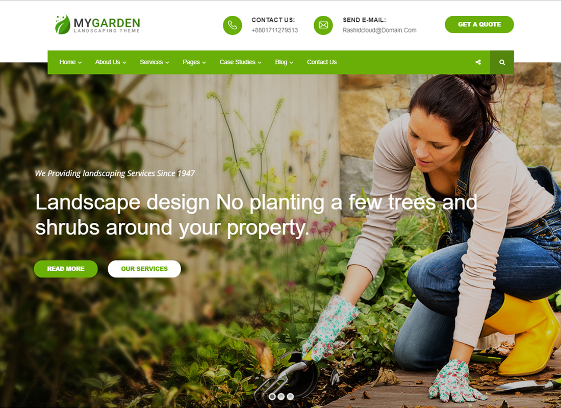 My Garden - Gardening WordPress Theme