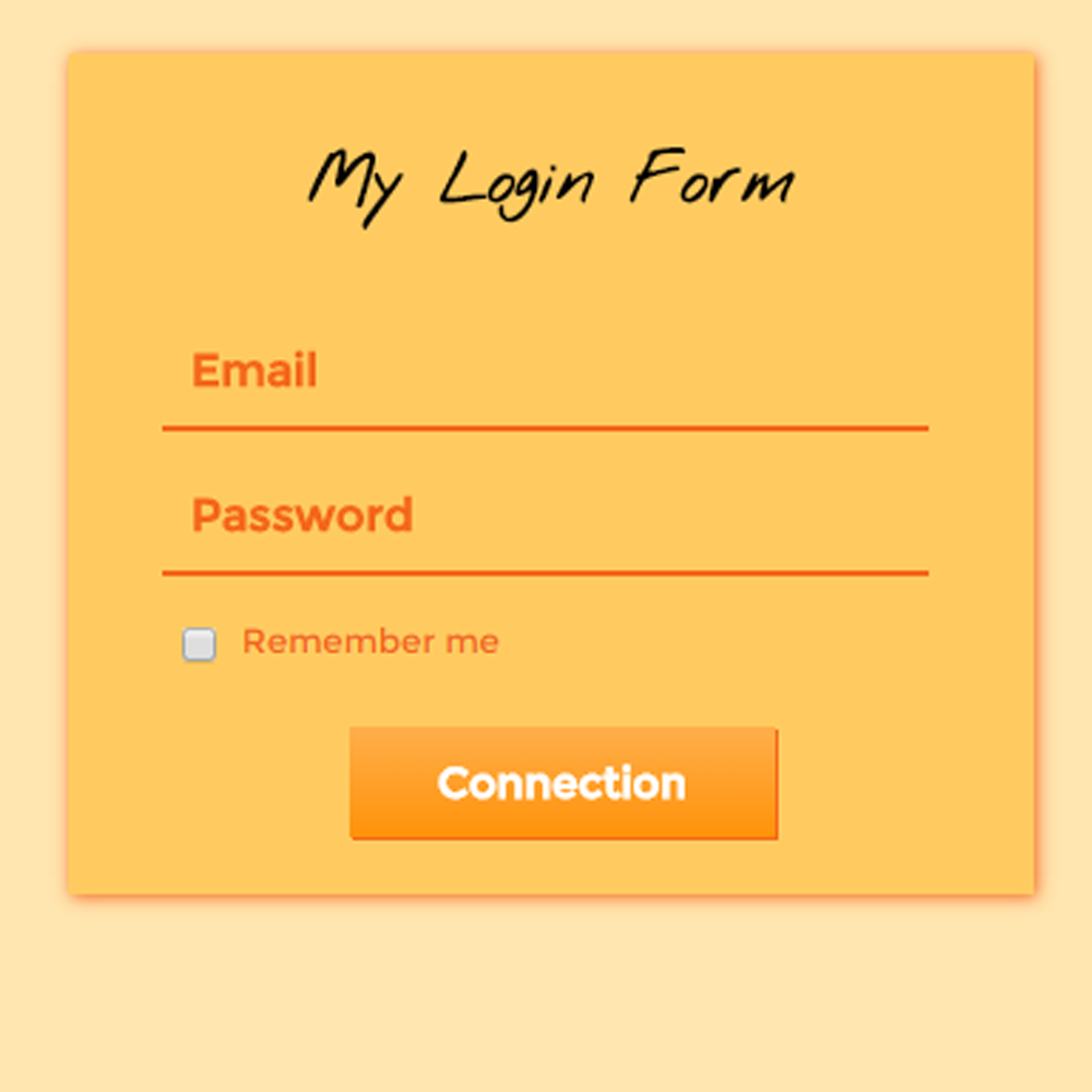 My Login Form