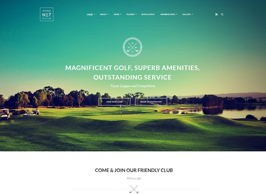 N7 - Golf Club, Sports & Events WordPress Theme