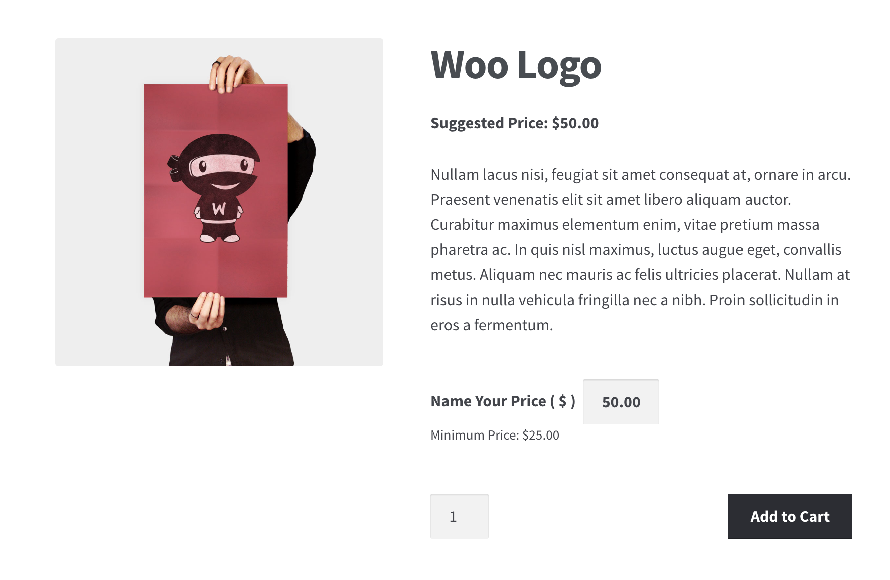 SImple WooCommerce Name Your Price Plugins