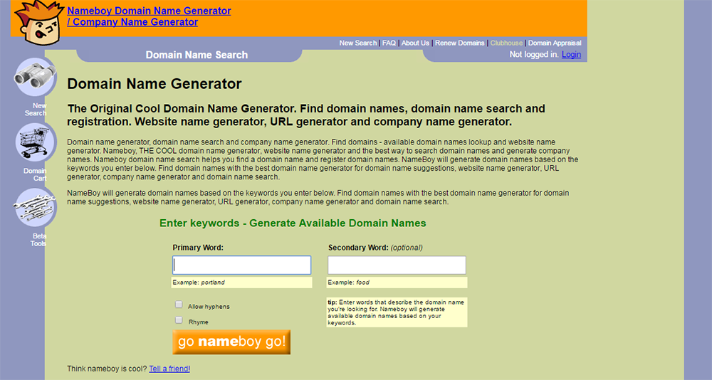 Cool Blog Domain Name Generators for WordPress