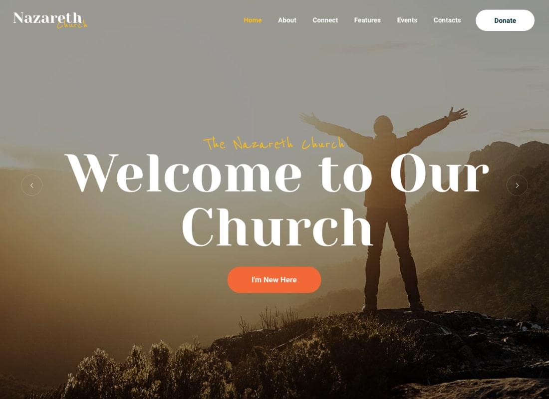 Nazareth | Church & Religion WordPress Theme