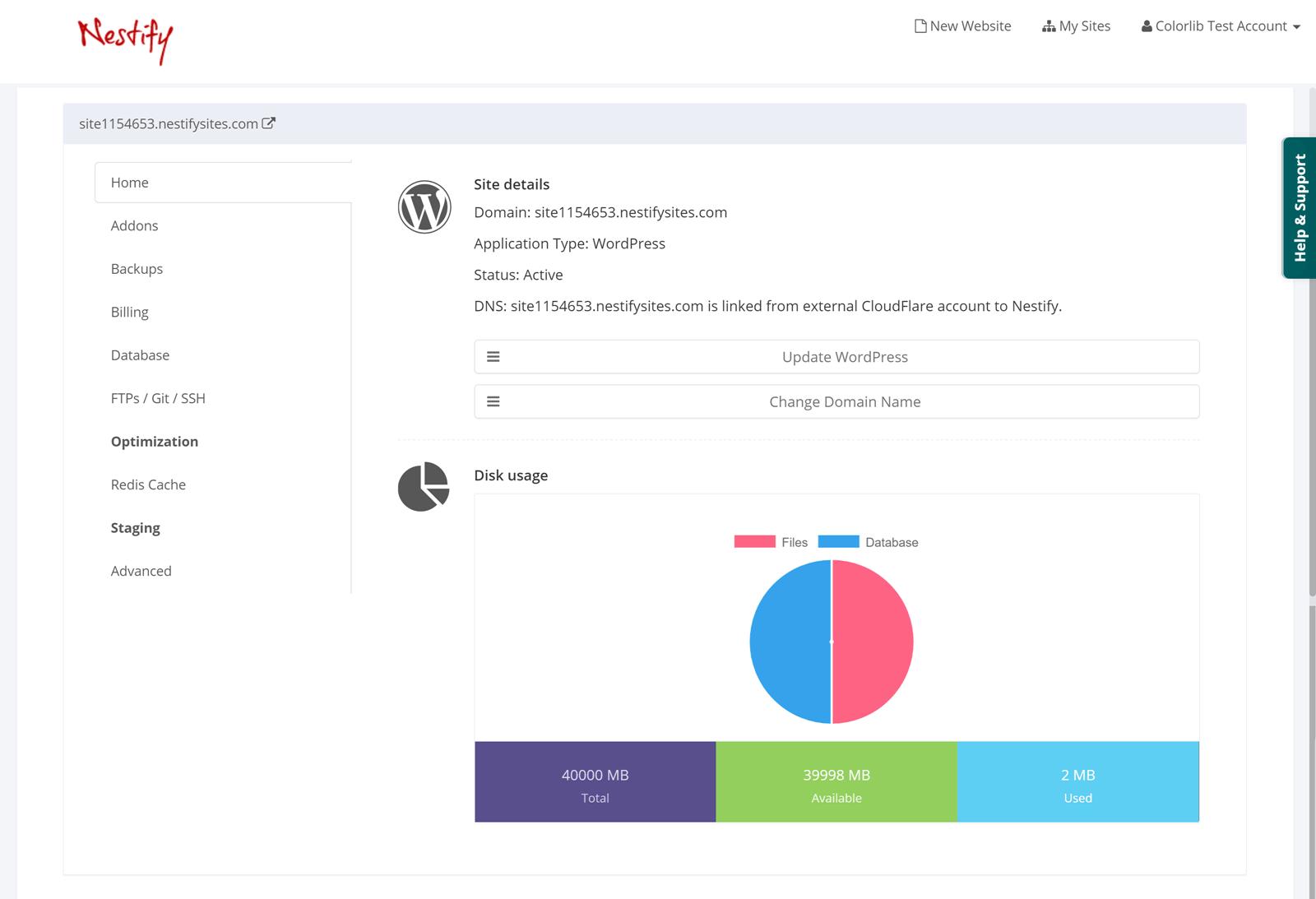 Nestify Account Dash