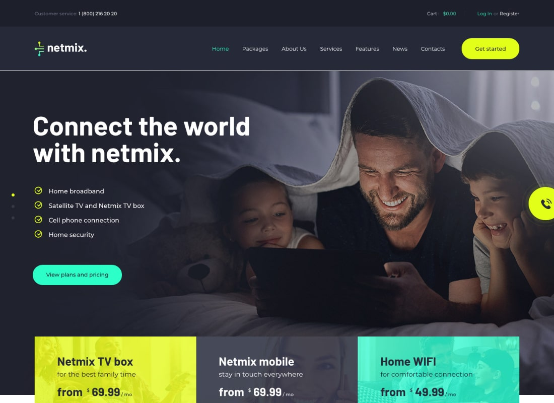 Netmix | Broadband & Telecom Internet Provider WordPress Theme