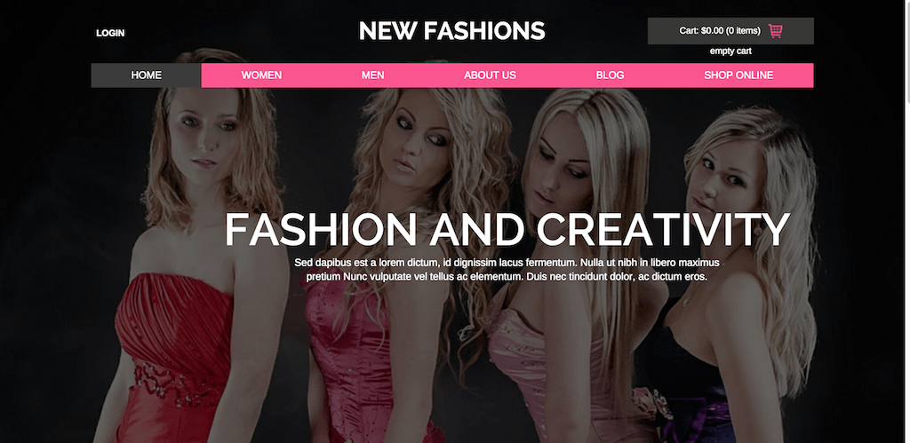 New Fashions a Flat Ecommerce Bootstrap Responsive Website Template Home w3layouts