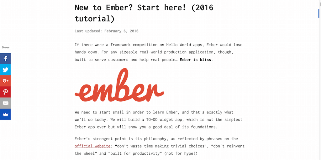 New to Ember- Start here! (2016 tutorial)