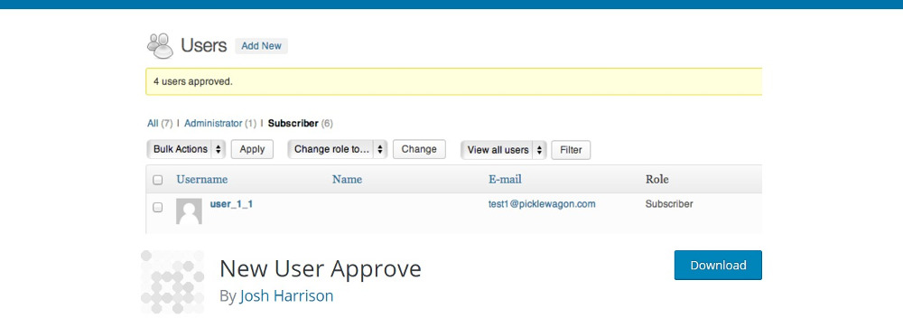 New User Approve