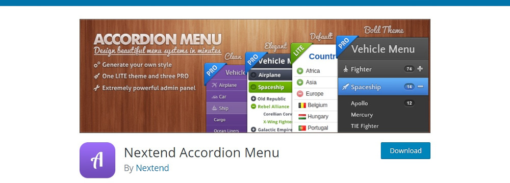 Nextend Accordion Menu
