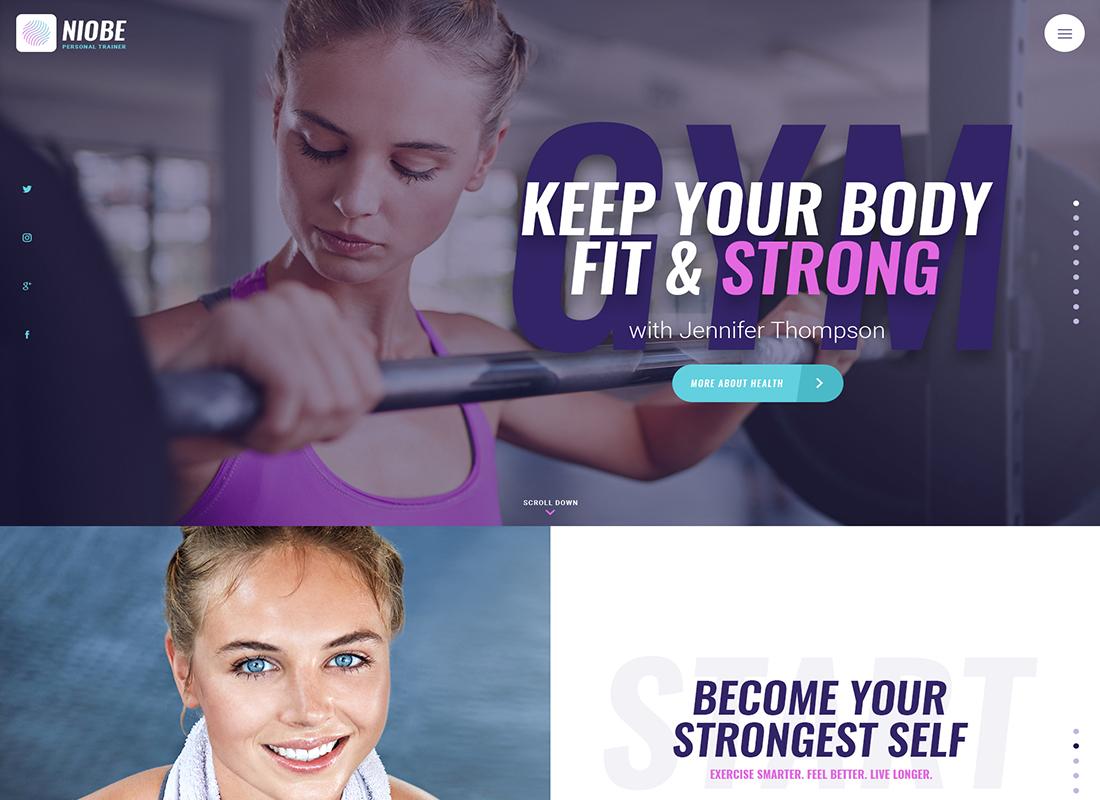 Niobe | A Gym Trainer & Nutrition Coach WordPress Theme