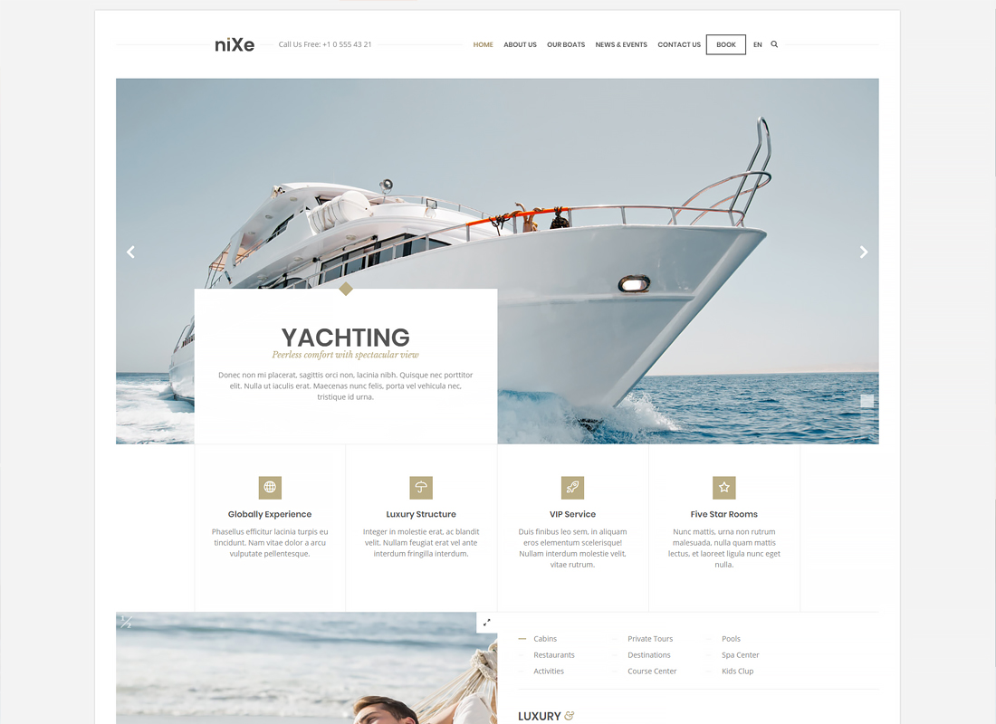 Nixe - Hotel, Travel and Holiday WordPress Theme