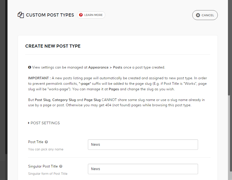 Northeme Create Custom Post Type