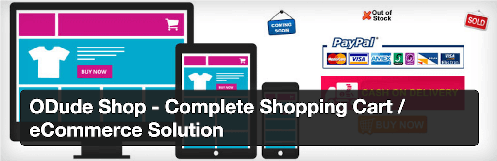 ODude Shop Complete Shopping Cart eCommerce Solution — WordPress Plugins