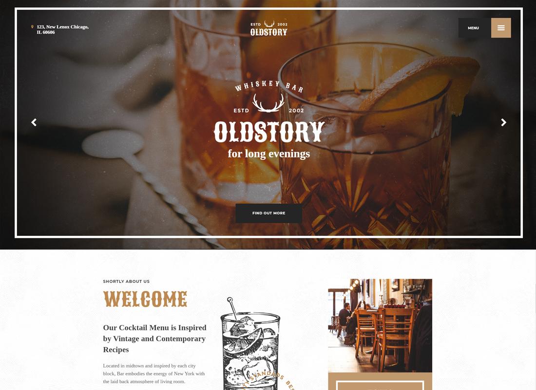 OldStory - Whisky Bar | Pub | Restaurant Site Template