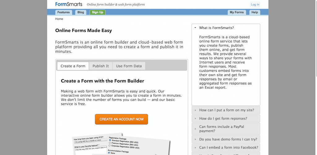 Online Form Builder Create Forms Now with our Easy Online Form Builder FormSmarts