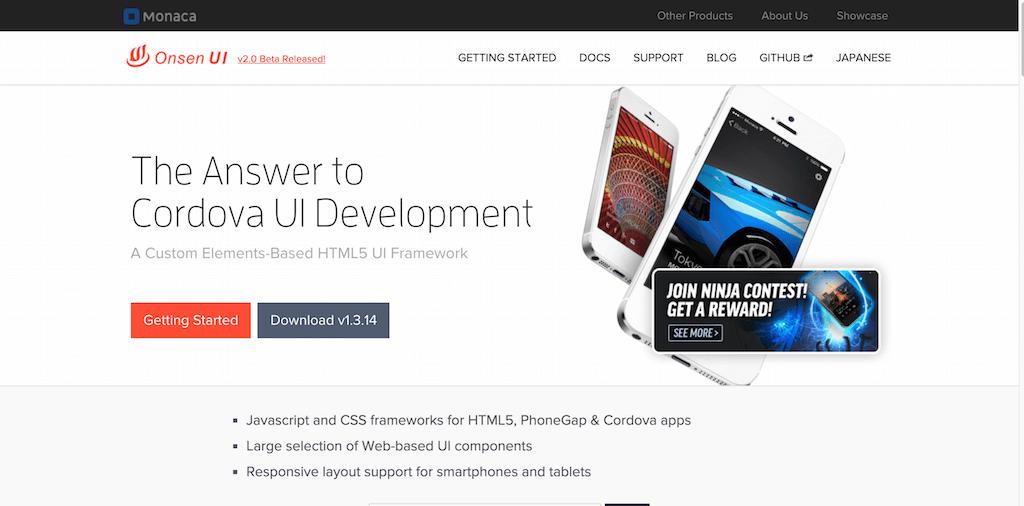 Onsen HTML5 Hybrid Mobile App Framework UI Components