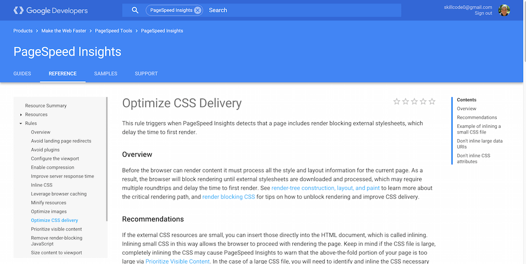 Optimize CSS Delivery     PageSpeed Insights     Google Developers