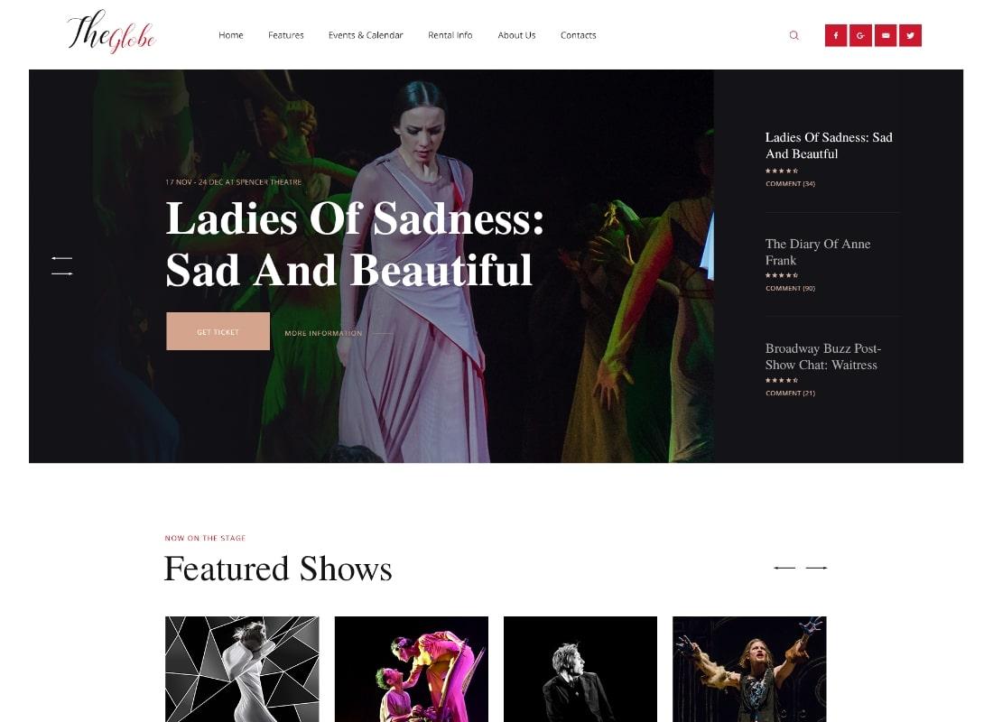 OsTende | School of Arts & Theater WordPress Theme