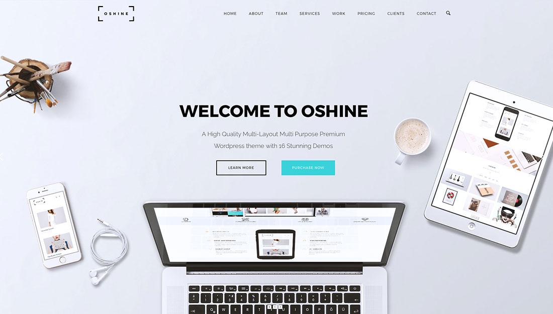 oshine portfolio wordpress theme