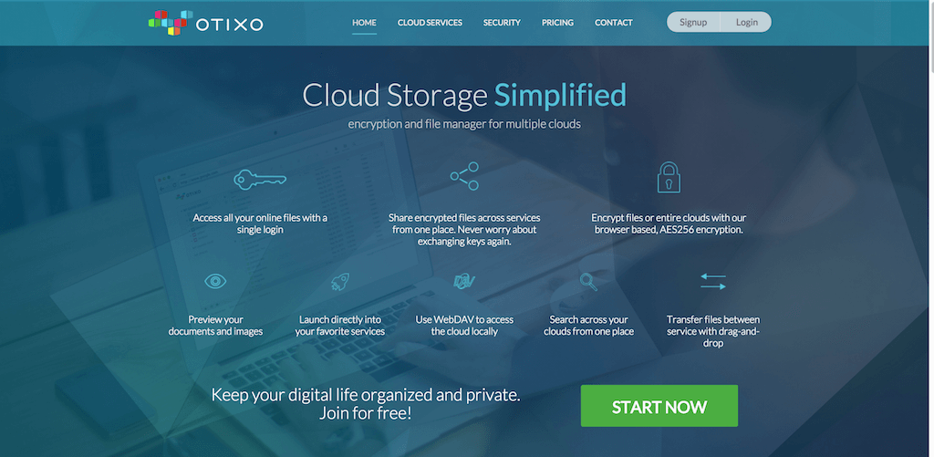 Otixo encryption and file manager for multiple clouds