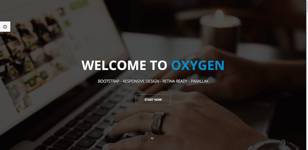 Oxygen One Page HTML Template Themeum
