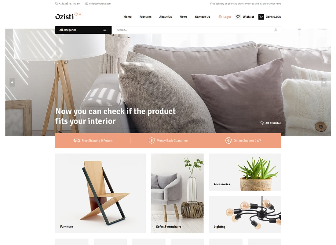 Ozisti | A Multi-Concept WooCommerce Augmented Reality Store Ready Luxury WordPress Theme