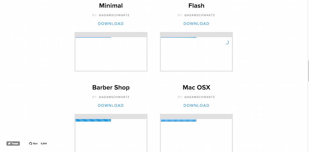 PACE — Automatic page load progress bars