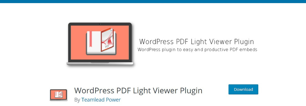 WordPress PDF Light Viewer