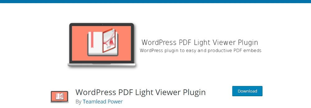 WordPress PDF Light Viewer
