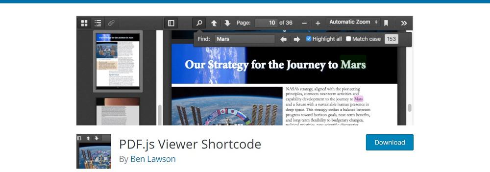 PDF.js Viewer Shortcode