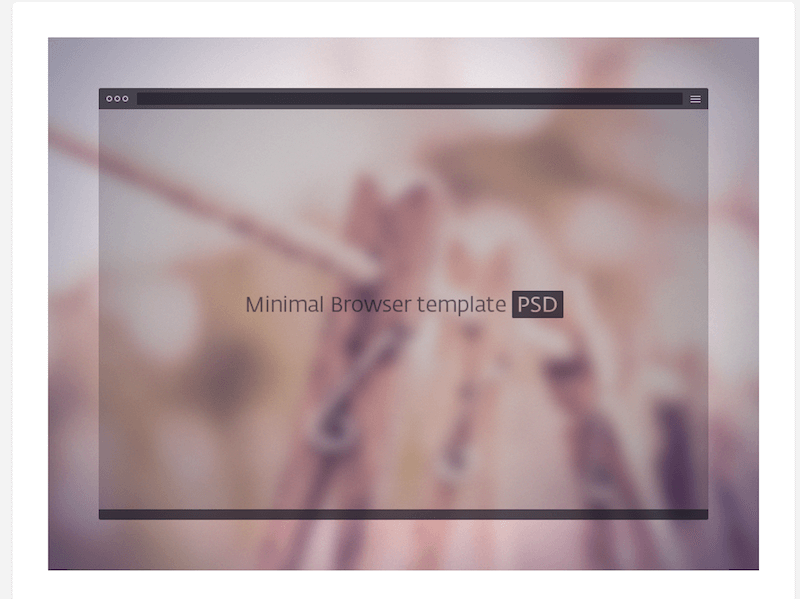 PSD Dark Minimal Browser Template