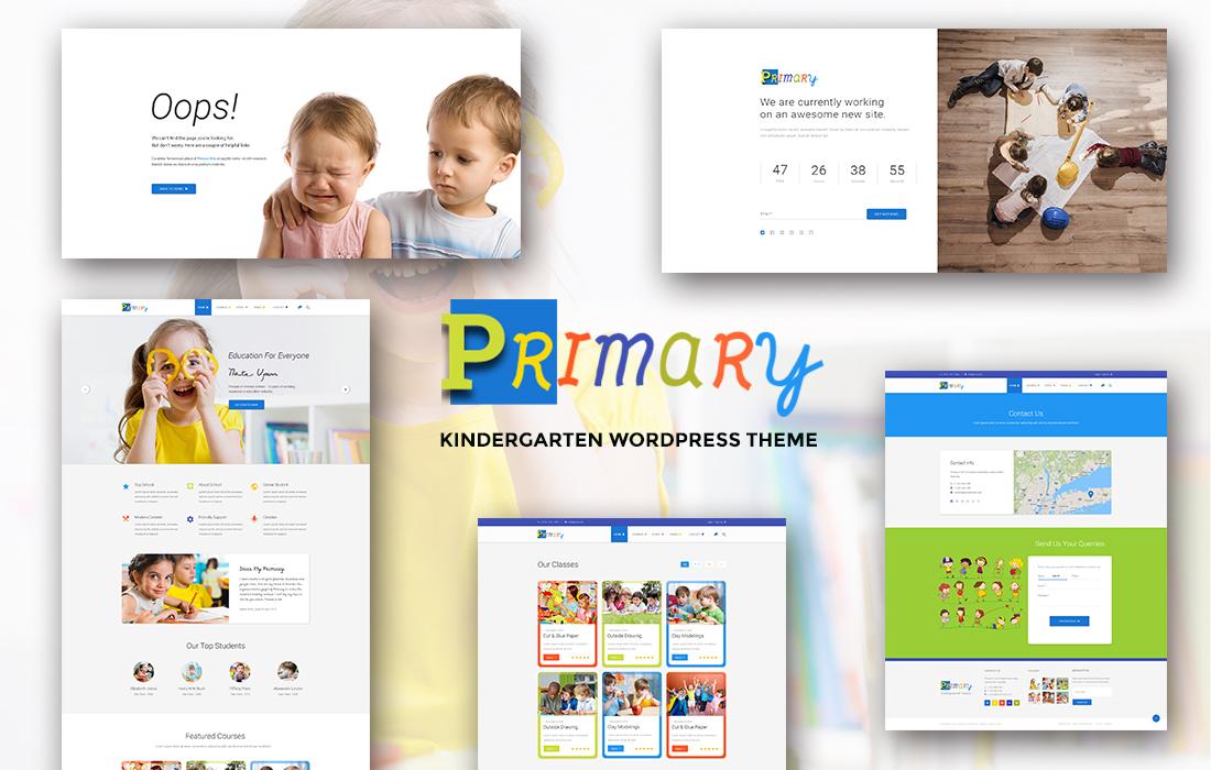 Primary – Colorful & Professional Education WordPress Theme For Kindergarten & Elementary School