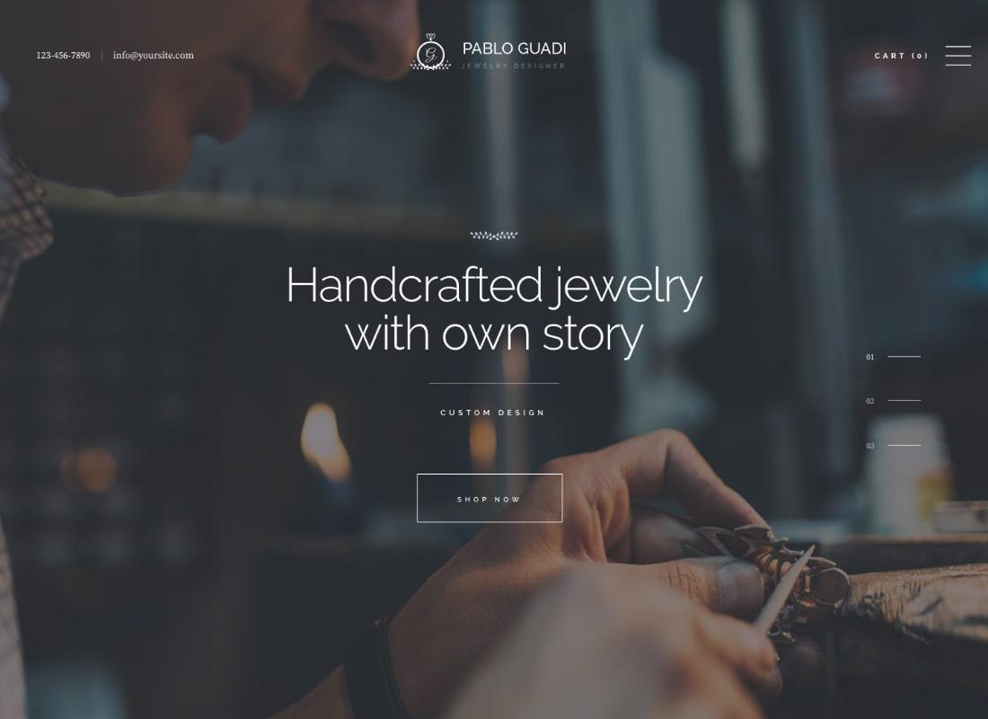 Pablo Guadi | Precious Stones Designer & Handcrafted Jewelry Online Shop WordPress Theme