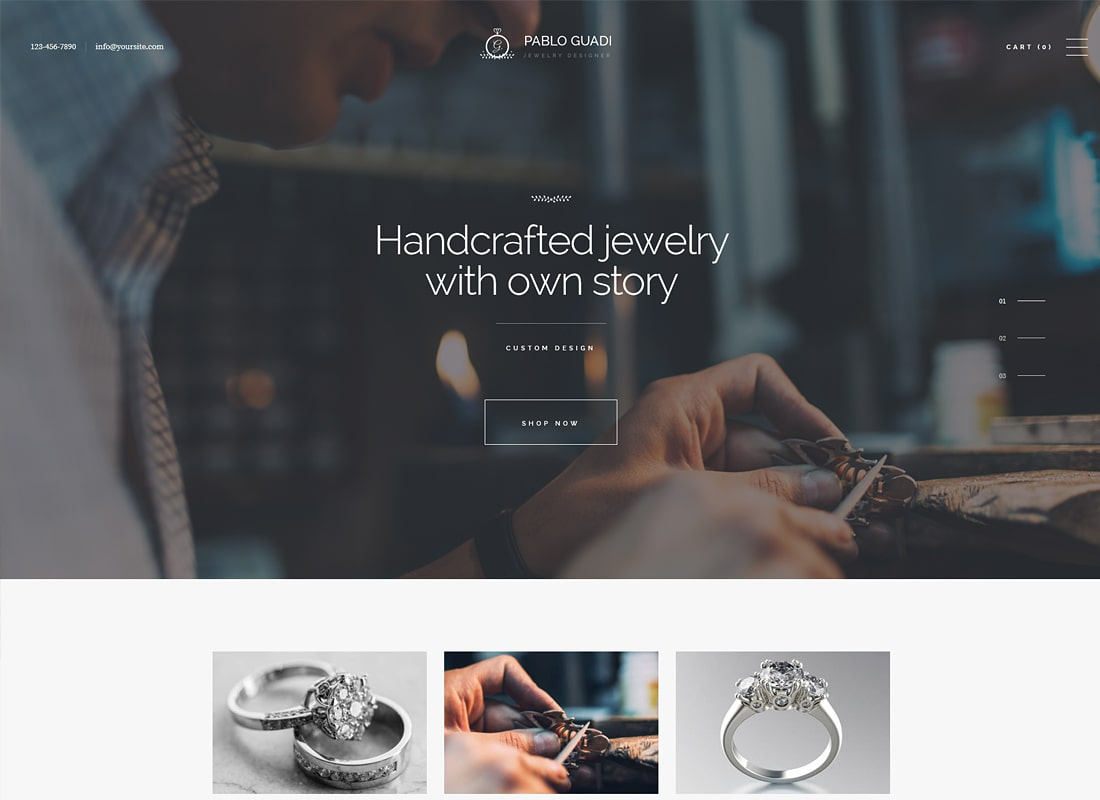 Pablo Guadi | Jewelry Designer & Handcrafted Jewelry Online Shop Luxury WordPress Theme