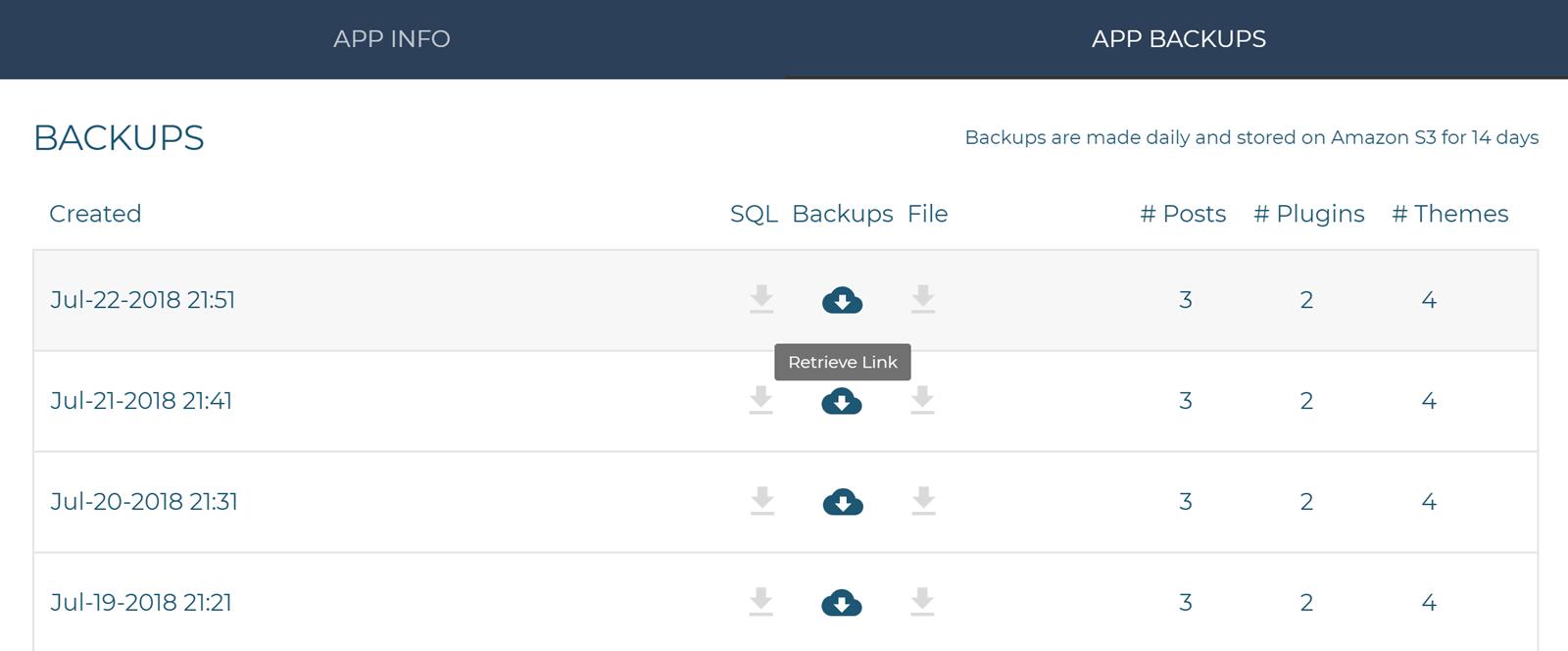 Pagely Atomic WordPress Backups