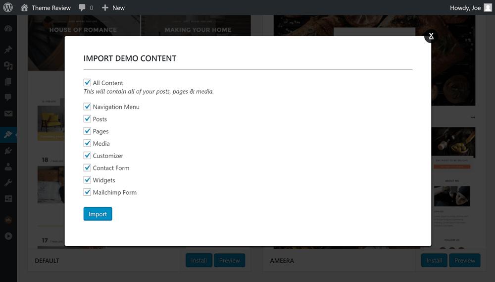 Paperio Demo Options