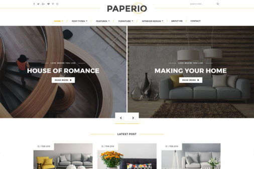 Paperio WordPress Theme Review FT