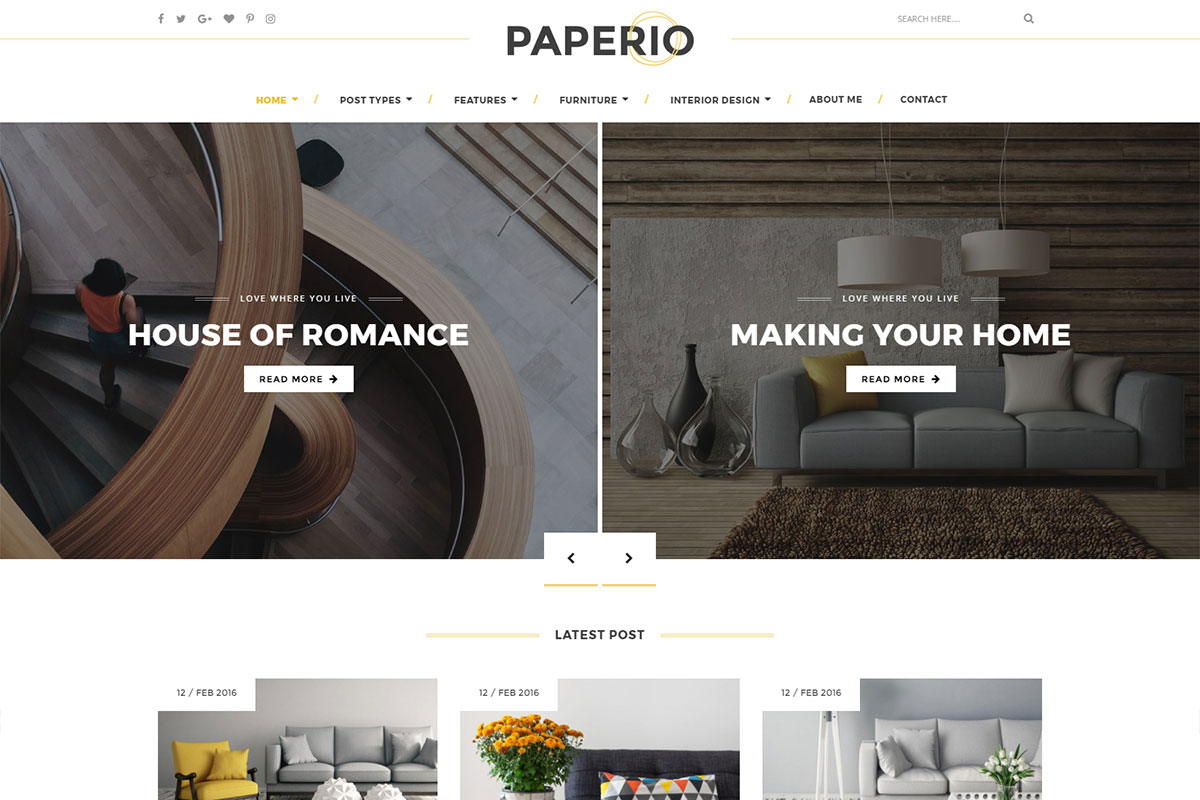 Paperio Theme Review: A Modern and Stylish WordPress Blogging Theme ...
