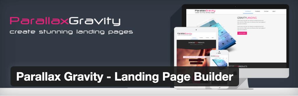 Parallax Gravity Landing Page Builder — WordPress Plugins